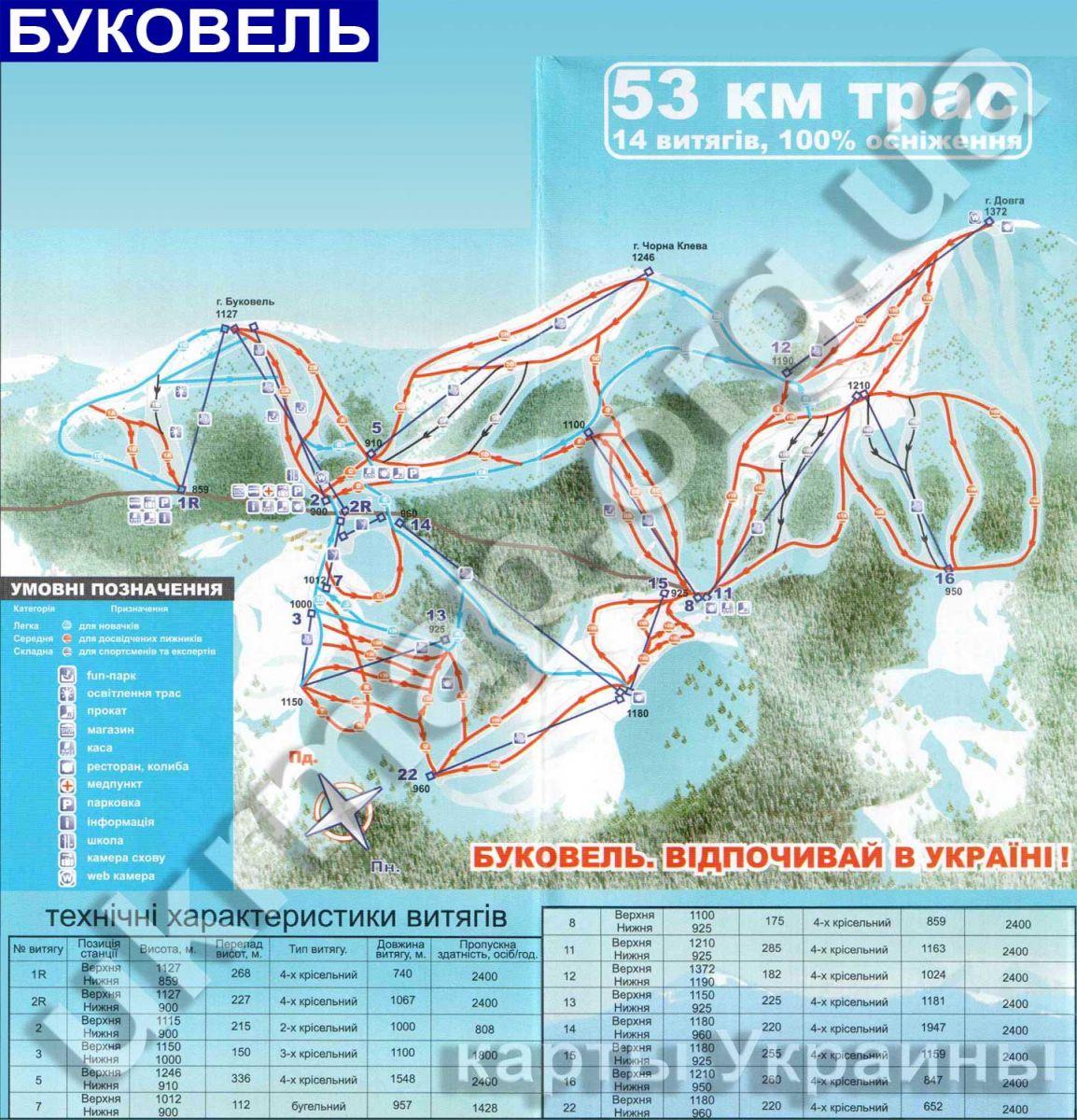 Где находится буковель на карте украины